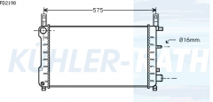 Ford radiator (92FB8005AA 92FB8005BB 7304940)