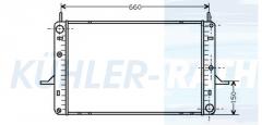 Ford radiator (1659346 88BB8005RA 2166710001 21838)