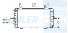 Ford radiator (V92AB8005AA)