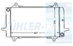 Ford radiator (85BB8005JB 85BB8005KA 85BB8005KB)