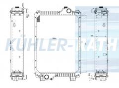 Ford/New Holland/Case IH radiator (82033792 87352193 87352198 87306754 82038688 82033525 82033792)