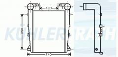 Ladeluftkühler passend für RVI/Irisbus/Liebherr/Karosa/Heuliez (5001858498 500023992 5001858497 5001