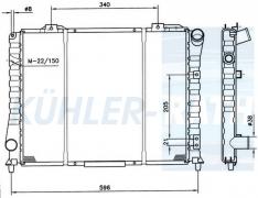 Alfa Romeo radiator (60510081 60541050 60576390 60579390 71736502)