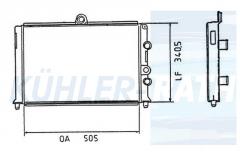 Alfa radiator (60520952 811074)