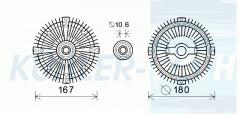 Mercedes-Benz/Ssangyong visco clutch (6032000522 A6032000522 6580000000 0002003822)
