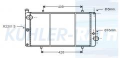 Peugeot Wasserkühler (1300J4 1301C3 1301R7 1301R9)