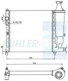 Peugeot Wasserkühler (1300N1 1300N2 1300N9)