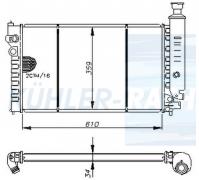 Peugeot Wasserkühler (1300J3 1300J4 1300L3 1300L4 1300X3 1300X5)