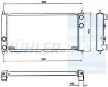 Rover Wasserkühler (NAM2401 NAM2523 NAM5023 NAM5024 NAM5024S 883830)