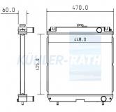 Kubota/Yanmar/Terex Wasserkühler
