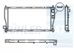 Rover Wasserkühler (ADU9098 ATP1047 ATP1084 STP1007)