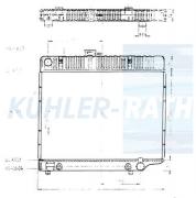 Mercedes-Benz radiator (A1235011601 A1235012201 A1235014401)