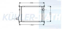 Rover Wasserkühler (GRD974 BTP2703)