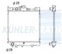 Suzuki Wasserkühler (1770082020 1770082021 1770082022)