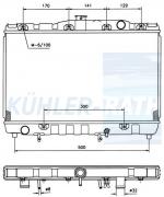 Toyota Wasserkühler (1640014040 1640063080)