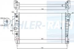 Jaguar radiator (MJB4190AD MJB4190AE MJB4190AF MJB4190BC C2N4579)