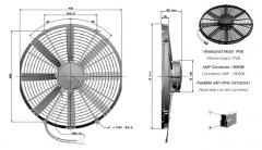 T5/T5K 12V ziehend fan (84073040129 8407.304.0129)