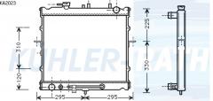 Kia Wasserkühler (OK01515200A)