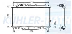 Kia Wasserkühler (OK2A215200B)
