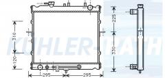 Kia Wasserkühler (OK02215200)