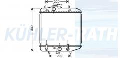 Daihatsu Wasserkühler (1640087F12)