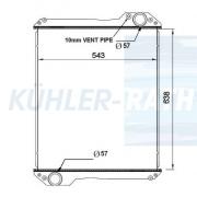 Case IH/Steyr/Caterpillar/JCB/New Holland radiator