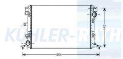 Renault radiator (214100007R)
