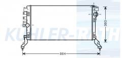 Renault radiator (214100006R)