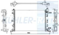 Renault radiator (214100003R 214100001R)