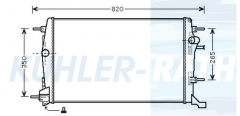 Renault radiator (214100017R)