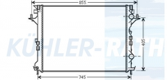 Renault radiator (8200433512)