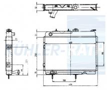 Renault radiator (7700572645)