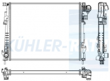 Nisssan/Opel/Renault radiator (2140000Q0C 8200411166 4416948 93854164)
