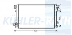 Opel/Nissan/Renault radiator (4417245 93190131 2140000Q0B 7701066109)