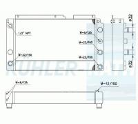 Linde/Fenwick combi cooler (3501070501 3501070502 3501070550)
