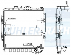 Mitsubishi radiator (MB222074 MB356109)