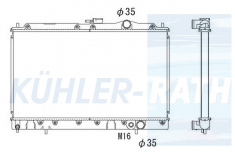 Mitsubishi radiator (MB356555 MB660234)