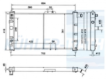Chevrolet/Daewoo radiator (96144850 96444570)