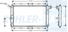 Chevrolet/Daewoo radiator (96351102)