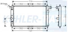 Chevrolet/Daewoo radiator (96351103 96273594)