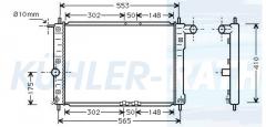 Chevrolet/Daewoo radiator (96559565 52484500)