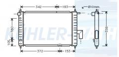 Chevrolet/Daewoo radiator (96322941)
