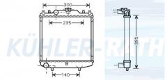 Chevrolet/Daewoo radiator (1770078B10)