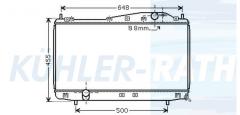 Chevrolet/Daewoo radiator (96278701)
