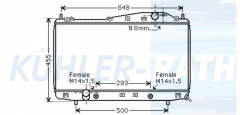 Chevrolet/Daewoo radiator (96278702)
