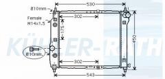 Chevrolet/Daewoo radiator (96536524)