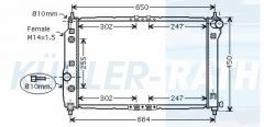 Chevrolet/Daewoo radiator (96536526)