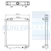 Kubota/Takeuchi/Volvo radiator