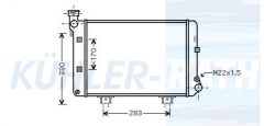 Lada radiator (2103130101020)