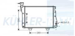 Lada radiator (2107130101030)